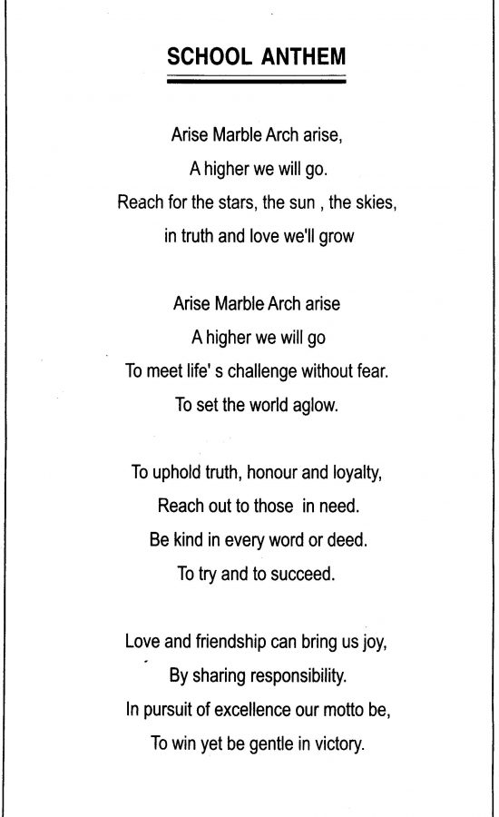 MAS School Anthem